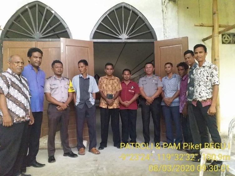 Polsek Mamboro Rutin Pengamanan Ibadah Mingguaan