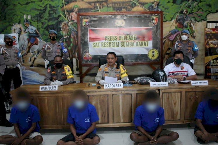 Kapolres Sumba Barat Gelar Press Release Terkait Kasus Pencabulan Dan Curanmor